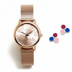 Juego Agatha Ruiz de la Prada reloj AGR260 rosado pendientes plata Ley 925m trío círculos colores