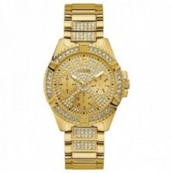 Reloj Guess mujer Frontier W1156L2 dorado detalle bisel correa piedras blancas