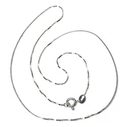 Cadena plata ley 925m 40cm. modelo veneciana brillo cierre reasa