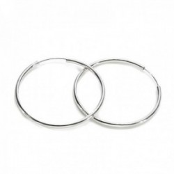 Pendientes Lineargent plata Ley 925m aros 45mm. lisos mujer