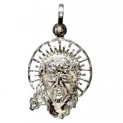 Cabeza rostro Cristo plata Ley [1329]