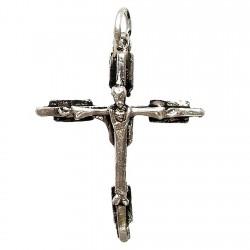 Cruz crucifijo plata Ley oxidada cristo [1340]