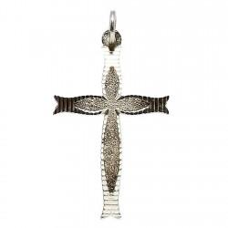 Cruz crucifijo plata Ley labrado [1342]