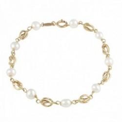 Pulsera Oro Amarillo 18k modelo Bracelets (9 Perlas Cultivadas 4,5-5mm.) Medida: 17cm.