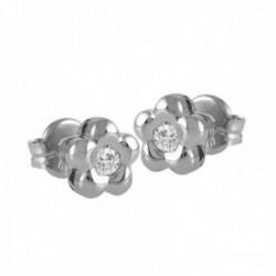 Pendientes Oro Blanco 18k modelo Tu Diamante (2 brillantes 2,00mm. 0,08 cts.) Medida: 18mm.