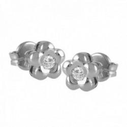 Pendientes Oro Blanco 18k modelo Tu Diamante (2 diamantes brillantes 2,30mm. 0,10 cts.)