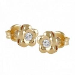 Pendientes Oro Amarillo 18k modelo Tu Diamante (2 brillantes brillantes 2,30mm. 0,10 cts.)