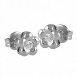 Pendientes Oro Blanco 18k modelo Tu Diamante (2 diamantes brillantes 2,60mm. 0,14 cts.)