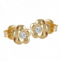 Pendientes Oro Amarillo 18k modelo Tu Diamante (2 diamantes brillantes 2,60mm. 0,14 cts.)
