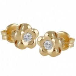 Pendientes Oro Amarillo 18k modelo Tu Diamante (2 diamantes brillantes 2,90mm. 0,20 cts.)