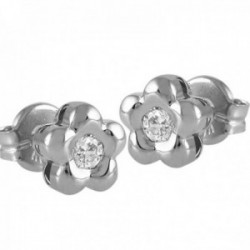 Pendientes Oro Blanco 18k modelo Tu Diamante (2 diamantes brillantes 3,25mm. 0,28 cts.)