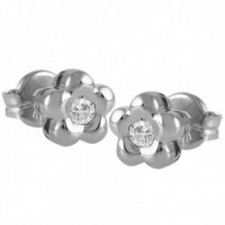 Pendientes Oro Blanco 18k modelo Tu Diamante (2 diamantes brillantes 2,90mm. 0,20 cts.)