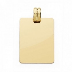 Colgante oro 18k chapa rectangular 28mm. lisa unisex