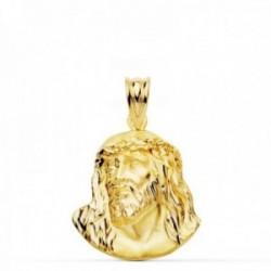 Cabeza rostro Cristo oro 18k Murillo 23mm. unisex