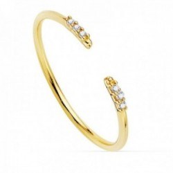 Sortija oro 18k redonda 1mm. diamantes brillantes 0.025ct. mujer