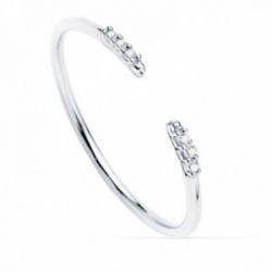 Sortija oro blanco 18k redonda 1mm. diamantes brillantes 0.025ct. mujer