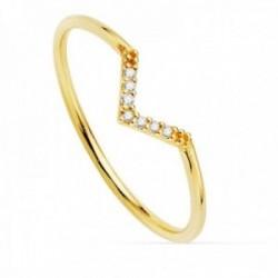 Sortija oro 18k redonda 1mm. diamantes brillantes brillantes 0.035ct. centro detalle pico