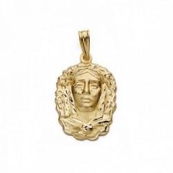 Colgante oro 18k María de la O Virgen de la Esperanza 22mm. unisex