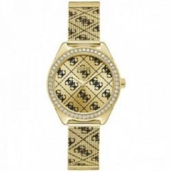 Reloj Guess mujer Claudia W1279L2 dorado logo