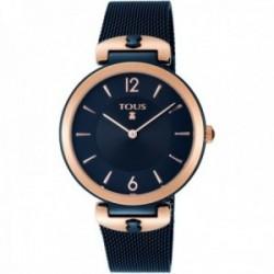 Reloj Tous mujer S-Mesh 800350835 bicolor acero inoxidable IP rosado azul malla milanesa