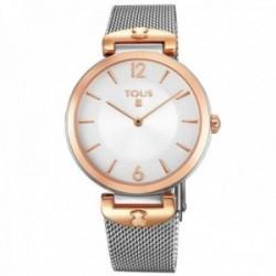 Reloj Tous mujer S-Mesh 700350285 bicolor acero inoxidable IP rosado plateado malla milanesa