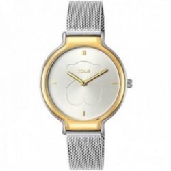 Reloj Tous mujer Real Bear 900350385 bicolor de acero inoxidable IP correa malla milanesa