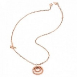 Collar gargantilla Guess Eternal Cicles UBN29036 acero inoxidable 41cm. chapado oro rosa