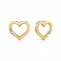 Pendientes Guess Jewellery Unchain My Heart UBE78061 acero inoxidable quirúrgico chapados oro