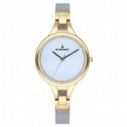 Reloj Radiant mujer RA423602 Capri bicolor esfera nacarada correa malla milanesa