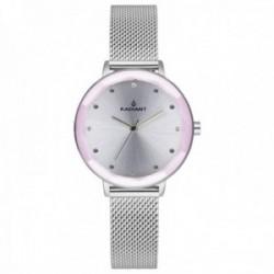Reloj Radiant mujer RA467605 Katrine malla milanesa bisel detalle rosa