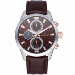 Reloj Radiant hombre RA479709 Guardian marrón acero inoxidable multifunción detalles rosados