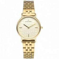 Reloj Radiant mujer RA527203 Coco dorado esfera efecto relieve