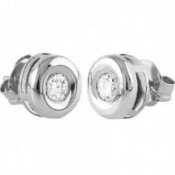 Pendientes Oro Blanco 18k modelo Tu Diamante (2 diamantes 3,40mm. 0,34 cts.)