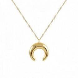 Collar Oro Amarillo 18k modelo Circles Colgante:14mm. Cadena:42cm.