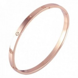 Pulsera Oro Rosa 18k modelo Bracelets Maciza. Medida:60x50x5mm.