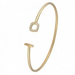 Pulsera Oro Amarillo 18k modelo Bracelets (16 diamantes 0,70mm. 0,032cts.). Medida:57x50x2mm.