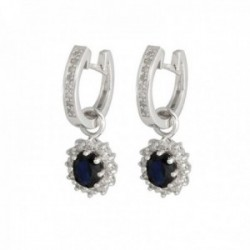 Pendientes Oro Blanco 18k modelo Buganvilla (24 diamantes 1,3mm. 0,24cts) (22 diamantes 1mm 0,11cts)