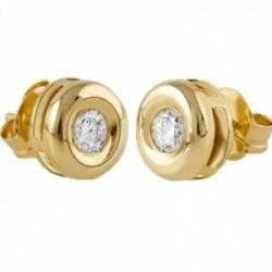 Pendientes Oro Amarillo 18k modelo Tu Diamante (2 diamantes 3,40mm. 0,34 cts.)