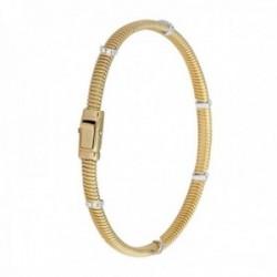 Pulsera Oro Amarillo 18k modelo Bracelets (18 diamantes 0,09 cts.) Largo: 18cm.-Ancho 4mm.