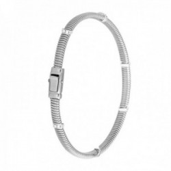 Pulsera Oro Blanco 18k modelo Bracelets (18 diamantes 0,09 cts.) Largo 18cm.-Ancho 4mm.