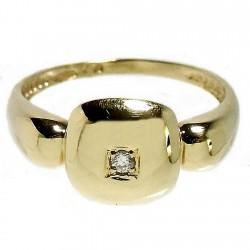 Sortija oro 18k diamante brillante central [534S]