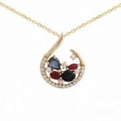 Collar Oro Amarillo 18k modelo Cachemira (25 diamantes 0,20 cts.)