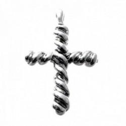 Colgante plata Ley 925m cruz electroforming 50mm. lisa formas espiral