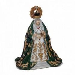 Figura Virgen de la Esperanza Macarena adorno 16cm. resina peana decoración