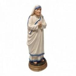Figura Santa Teresa de Calcuta adorno 20cm. resina peana decoración