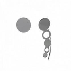 Pendientes plata Ley 925m círculo simple 8mm. cierre presión trepador 22mm. círculos lisos calados