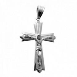 Colgante plata Ley 925m crucifijo 45mm. cruz formas líneas