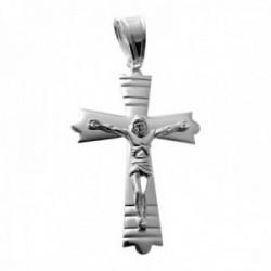 Colgante plata Ley 925m crucifijo 45mm. cruz forma líneas horizontales