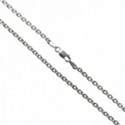 Cadena plata Ley 925m modelo forzada 50cm. lisa cierre mosquetón