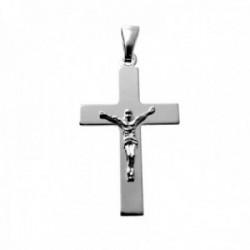 Colgante plata Ley 925m crucifijo 31mm. cristo palo plano liso